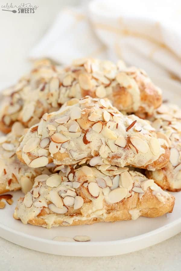 Almond Croissants - Celebrating Sweets