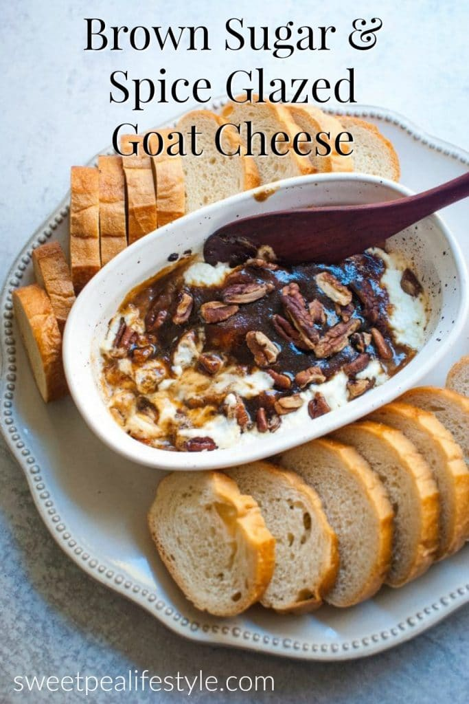 Brown Sugar and Spiced Glazed Goat Cheese Appetizer Recipe Idea