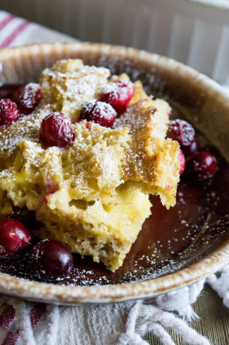 Cranberry Eggnog Bake - Perfect for Christmas Breakfast