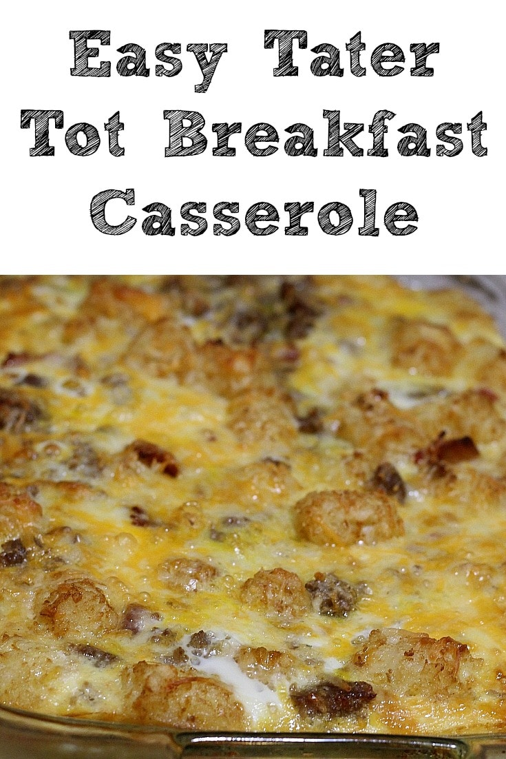 Easy Tater Tot Breakfast Casserole Recipe
