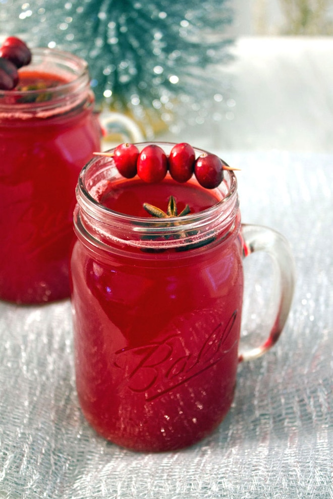 Hot Spiced Cranberry Cocktail