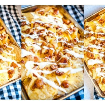 BBQ Chicken Sheet Pan Nachos