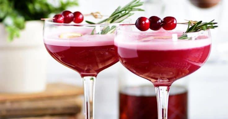 Cran-Cherry Rye Whiskey Sour Cocktail