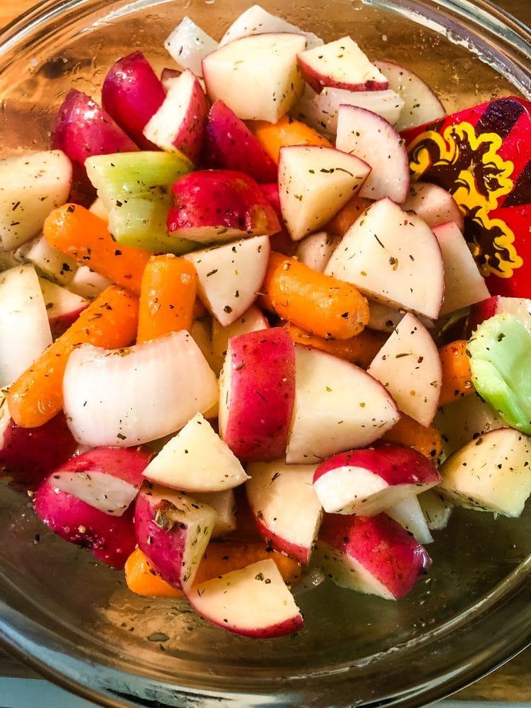 seasoned veggies for roasting