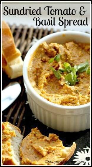 Sundried Tomato & Basil Spread Recipe - Snappy Gourmet