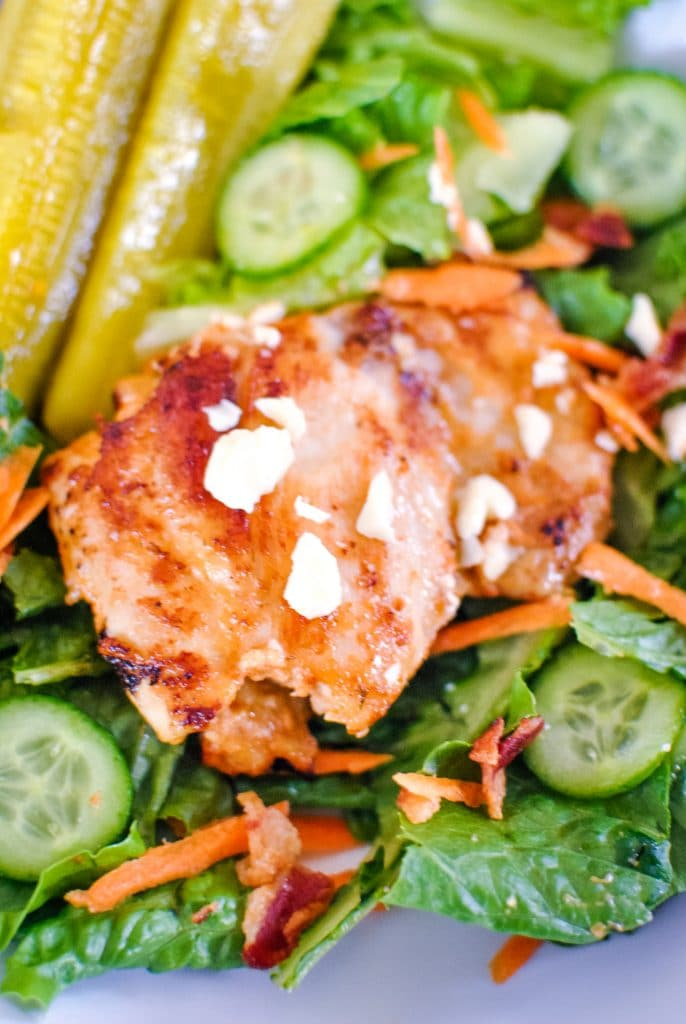 Special Sauce Marinated Chicken on Salad