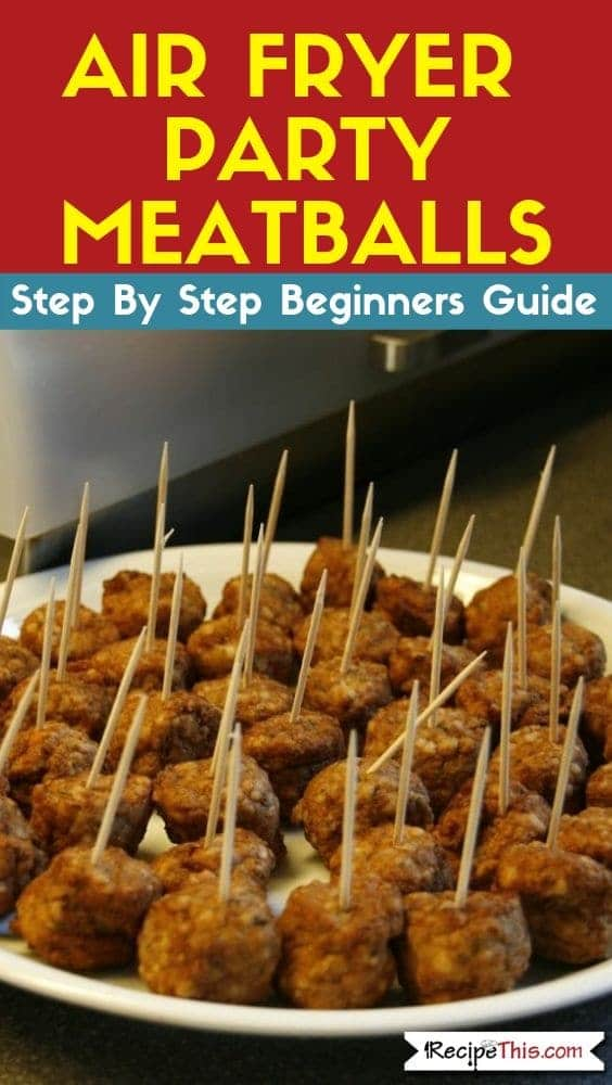 Air Fryer Party Meatballs
