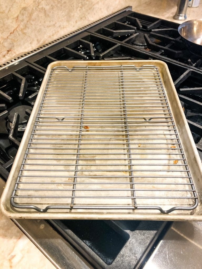Half Sheet Pan with Rack on it