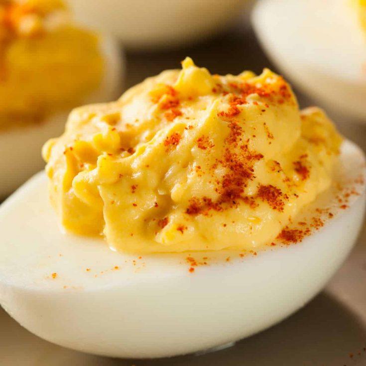 No Mayo Deviled Eggs