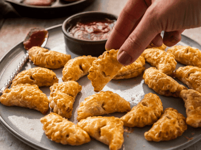 Mini Bacon and Onion Pasties