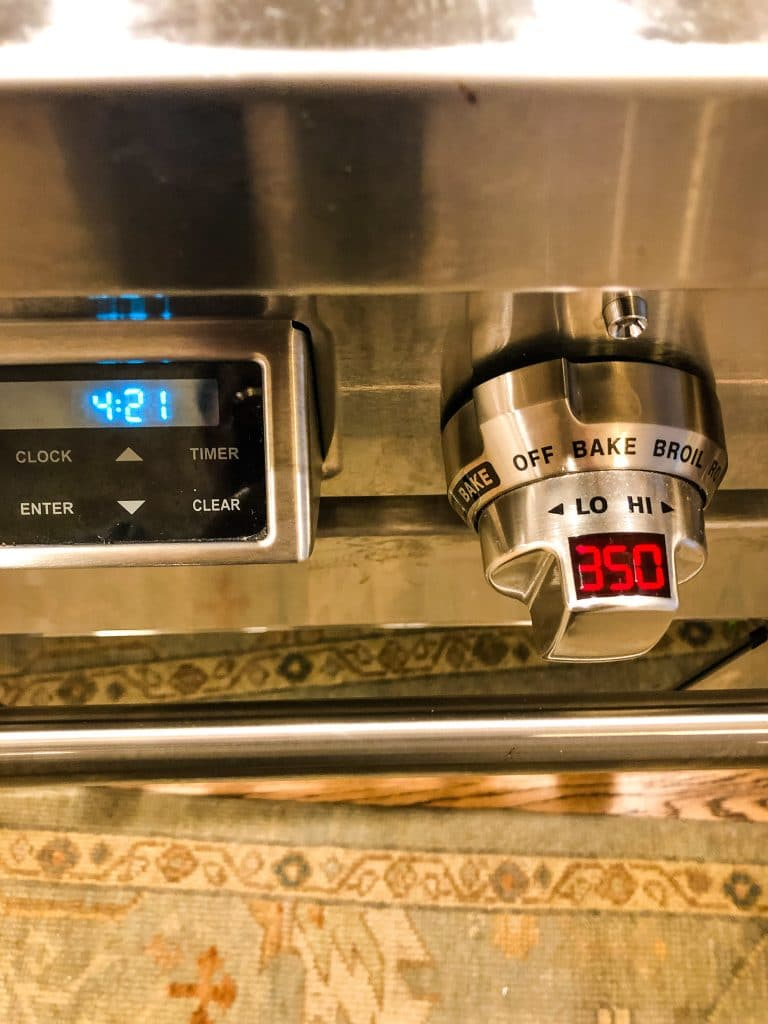 Timer on a Wolf Oven Range