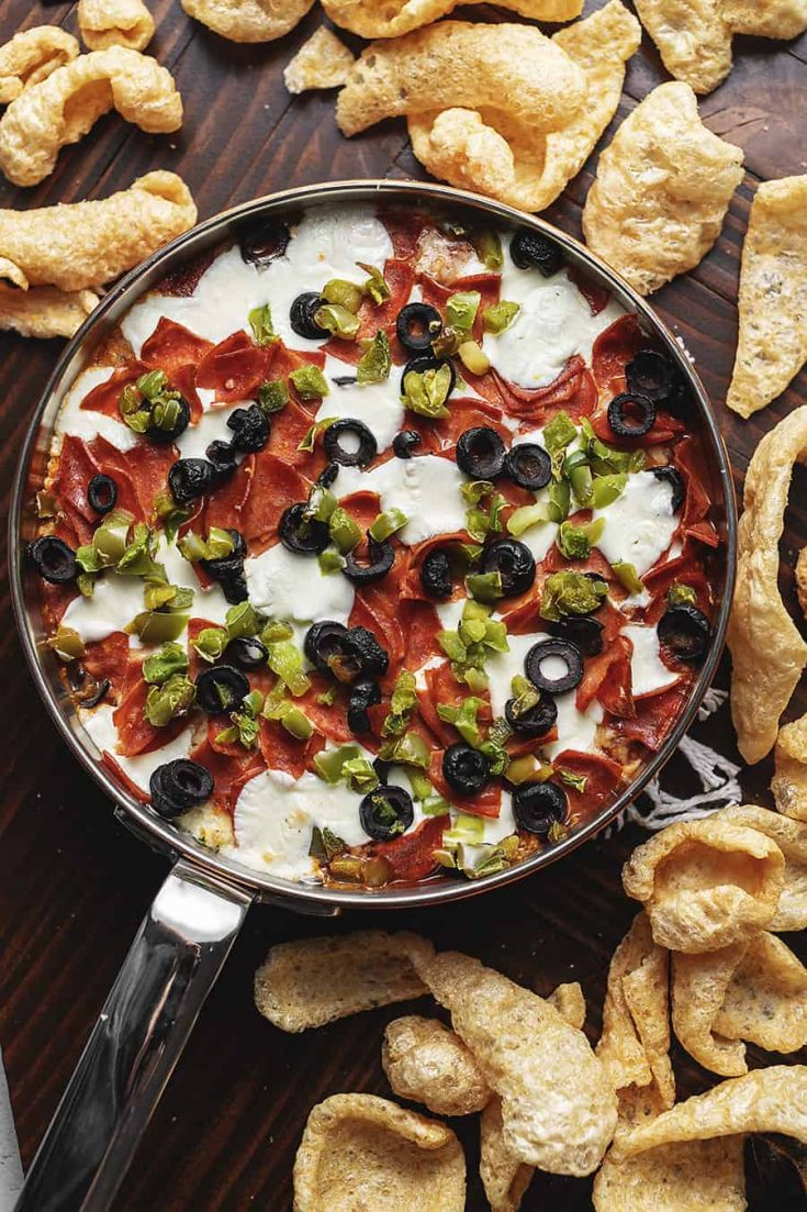 Easy Supreme Pizza Dip • Low Carb with Jennifer