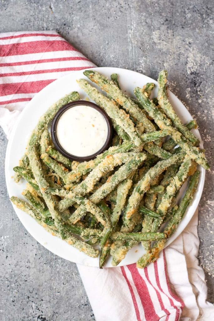 Crispy Green Bean Fries (Low carb + Air Fryer and Oven)