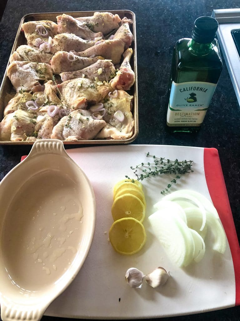 Assembling Chicken Confit for One