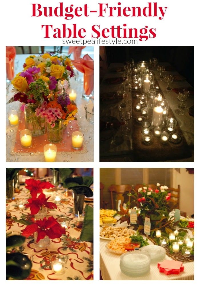 Budget Friendly Table Setting Ideas from Sweetpea Lifestyle