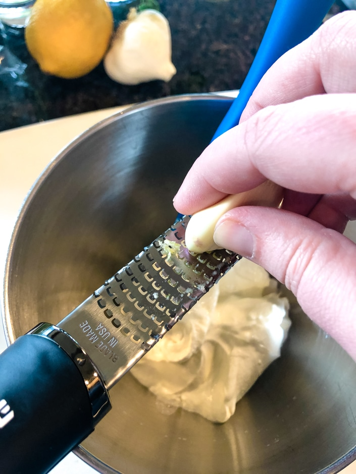 Grating Garlic on a Microplane