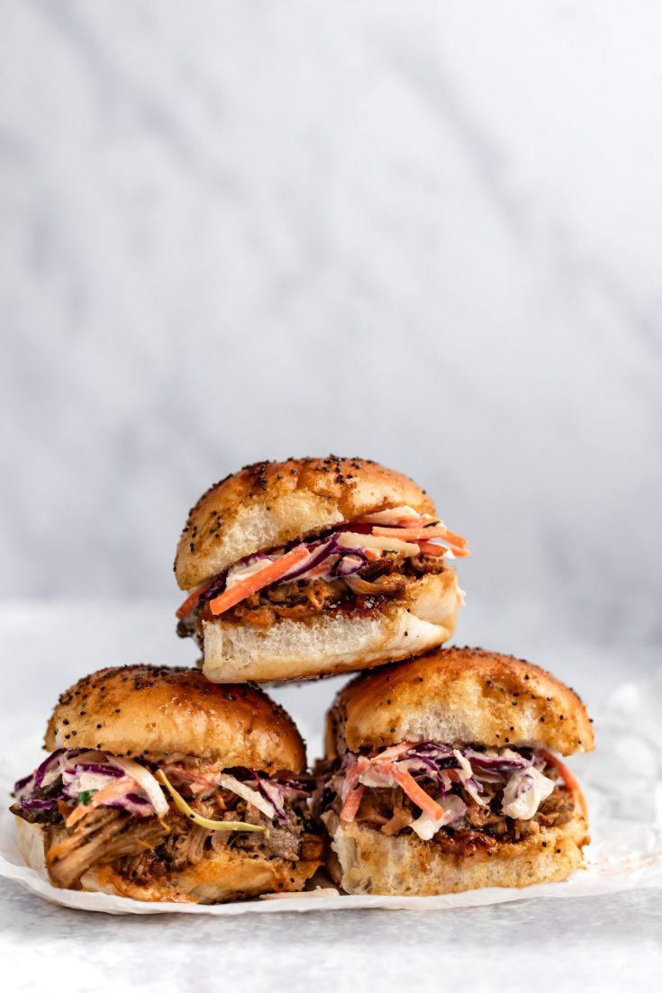 Easy Pulled Pork Sliders - super quick & full of flavor!