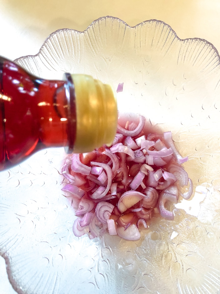 Red Wine Vinegar for Pickled Shallots