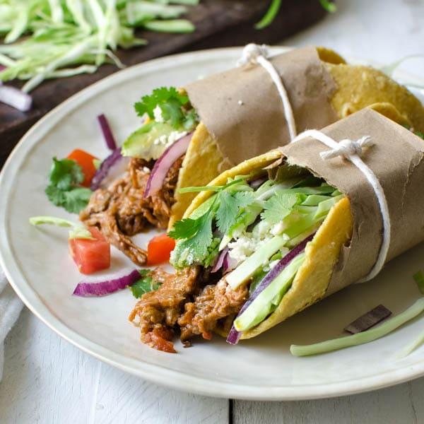 Leftover Braised Pork Tacos