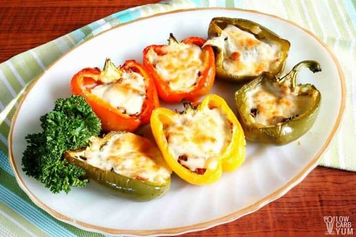 Pulled Pork Stuffed Peppers without Rice