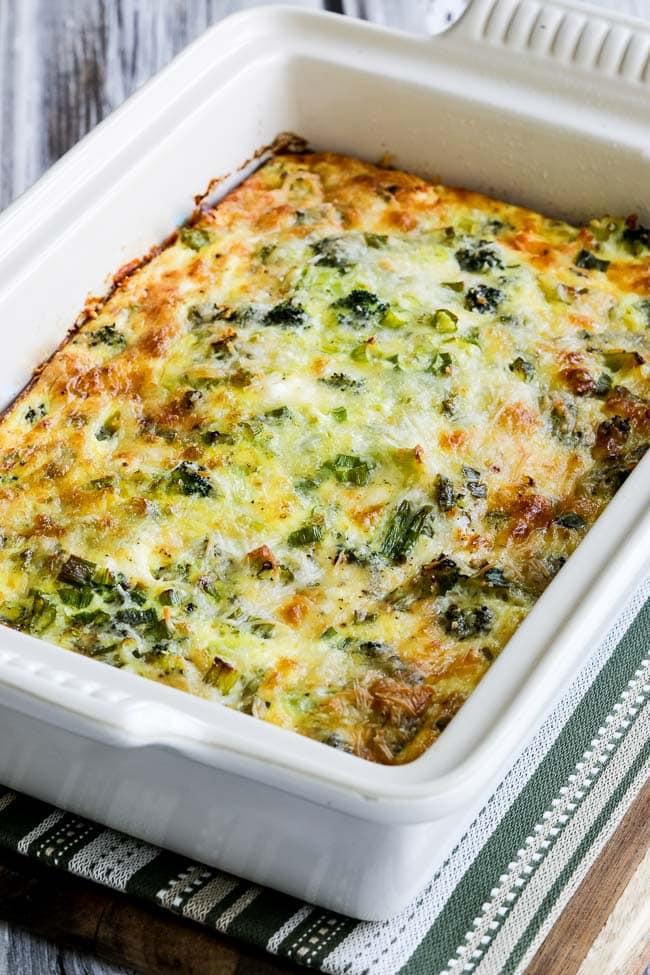 Broccoli and Three Cheese Keto Breakfast Casserole - Kalyn's Kitchen