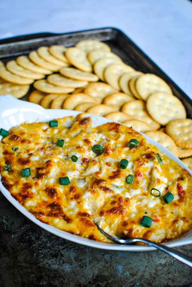 Baked Pimento Cheese Chicken Dip Recipe