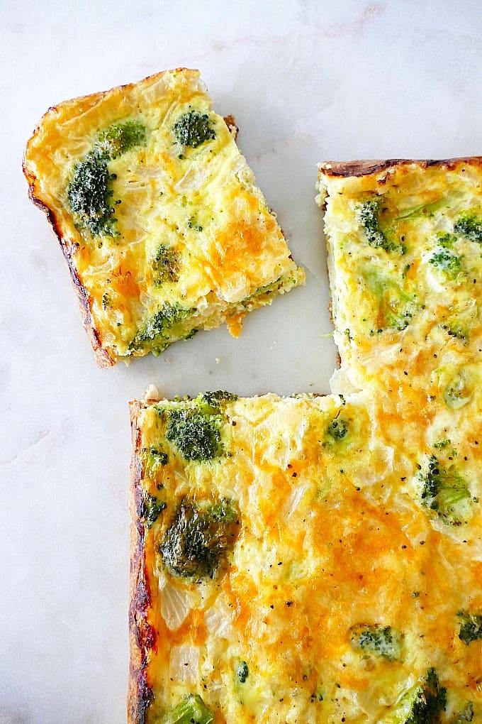 Easy Broccoli and Cheese Egg Bake