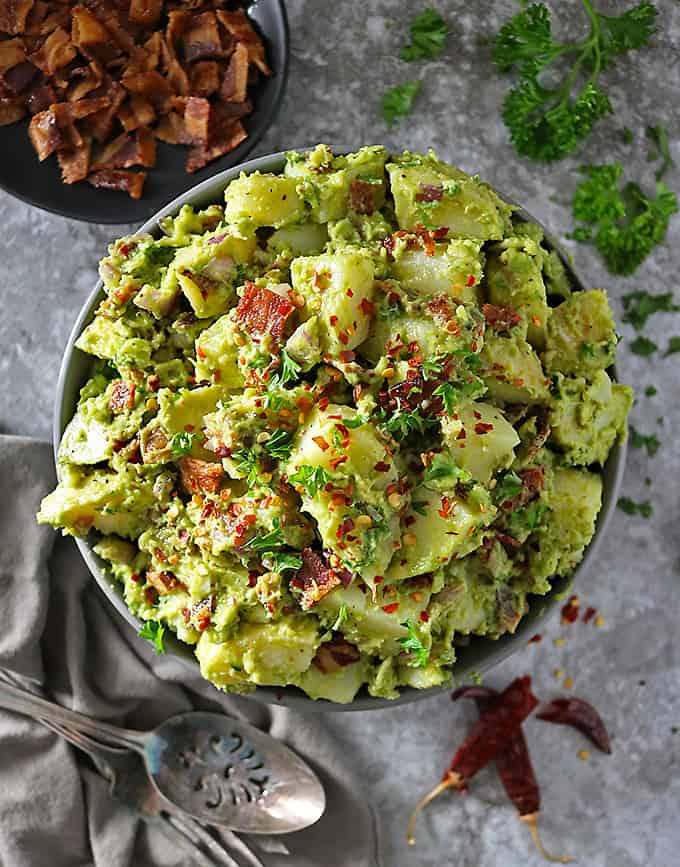 Potato Bacon Avocado Salad (Dairy Free Recipe)