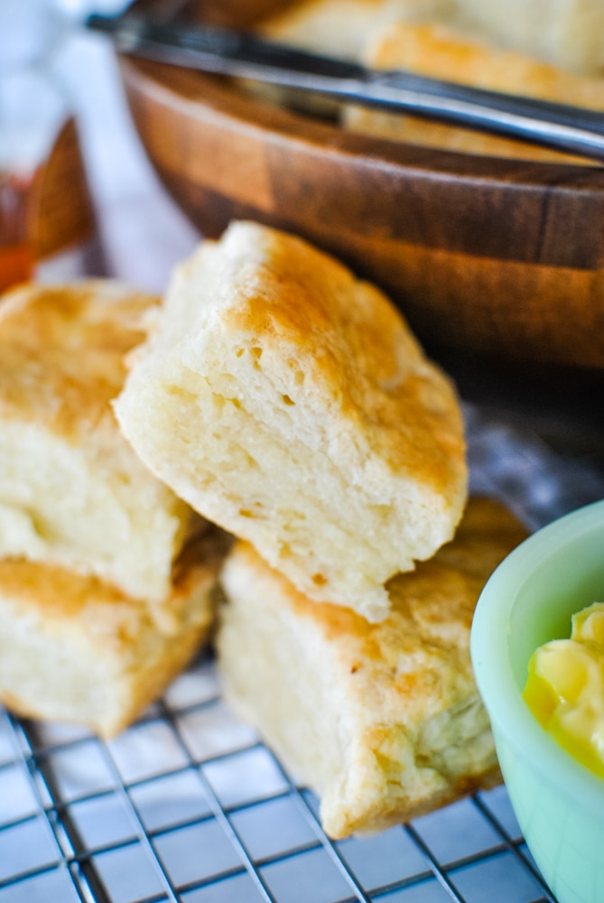 Incredibly flaky biscuits
