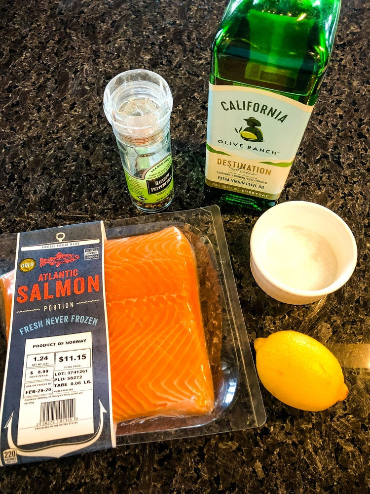 Lemon Pepper Salmon Ingredients