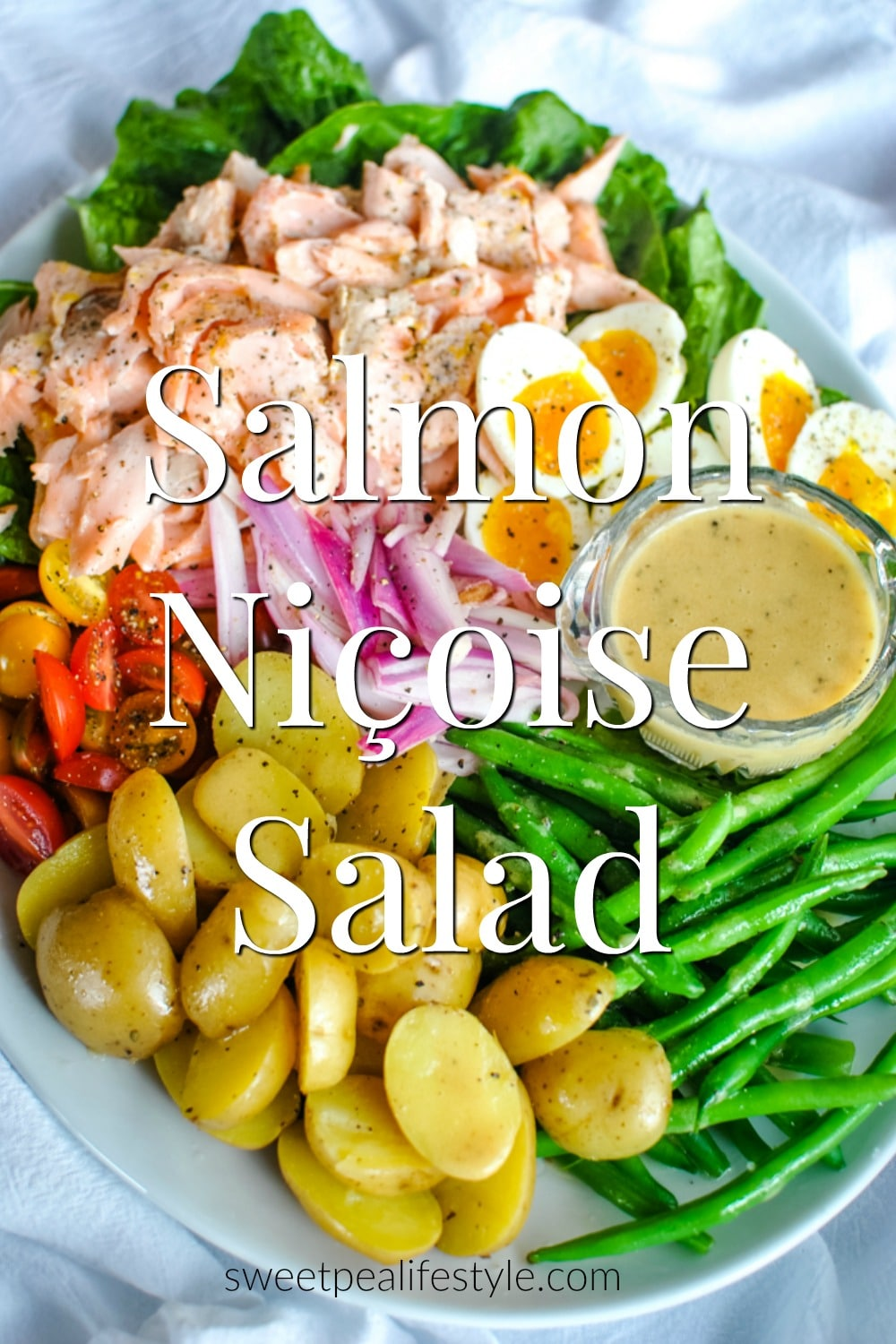 Salmon Nicoise Salad Recipe from Sweetpea Lifestyle