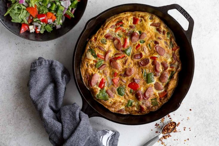 Sausage Frittata with Peppers and Onions