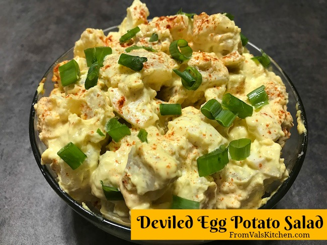 Deviled Egg Potato Salad Recipe ~ From Val's Kitchen