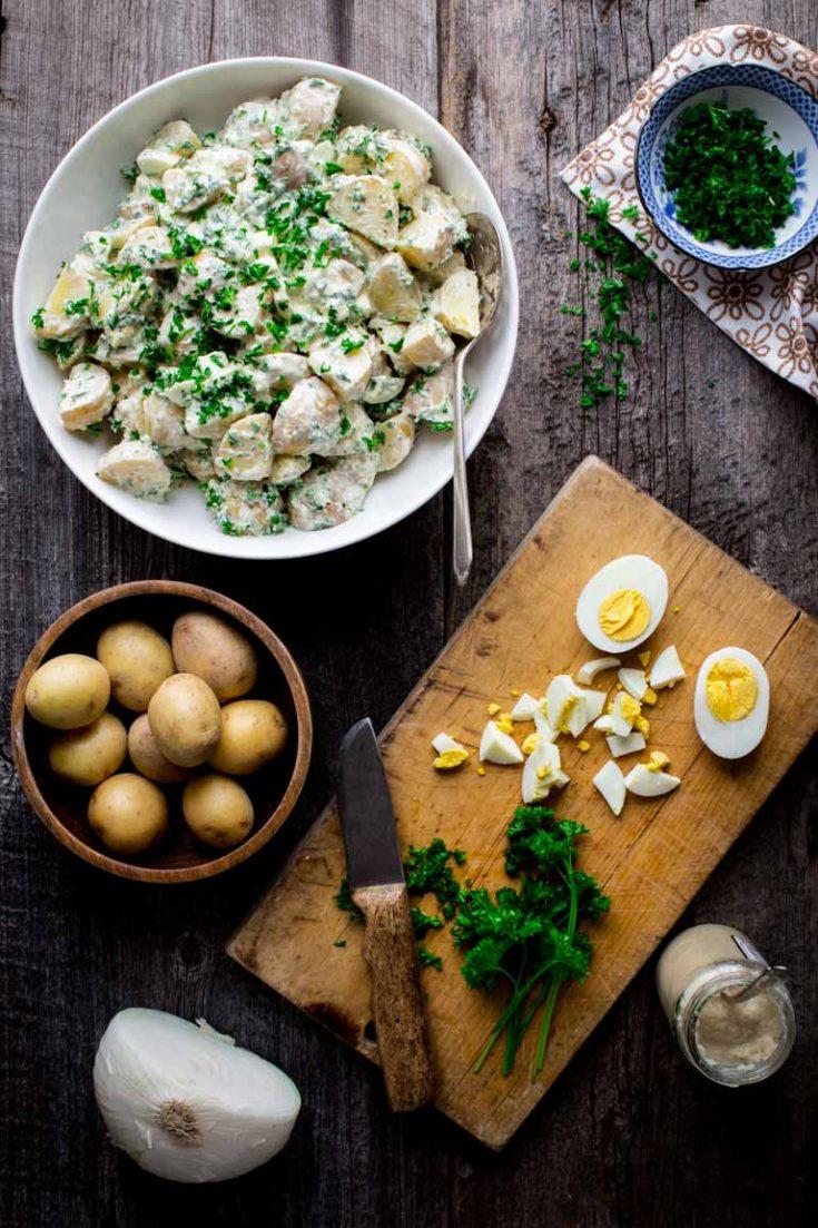 creamy horseradish potato salad