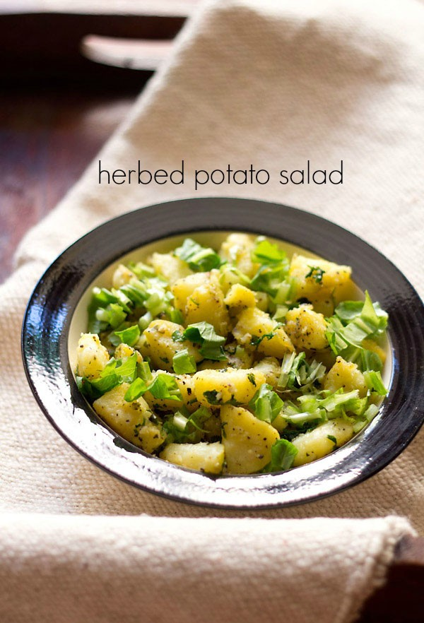 herbed potato salad recipe | aloo salad | potato salad with mixed herbs