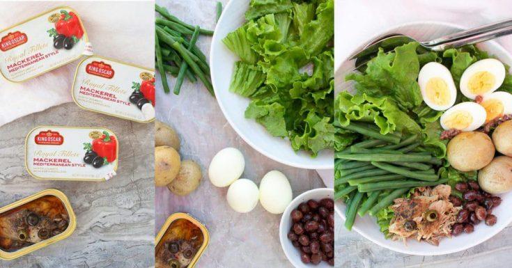 Mackerel Nicoise Salad