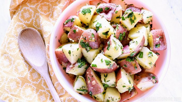 Red Potato Salad with Garlic Herb Dressing