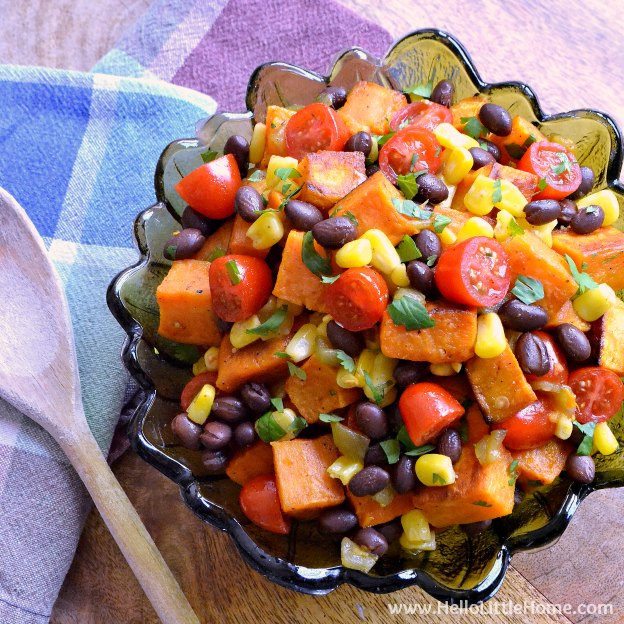 Tex Mex Roasted Sweet Potato Salad