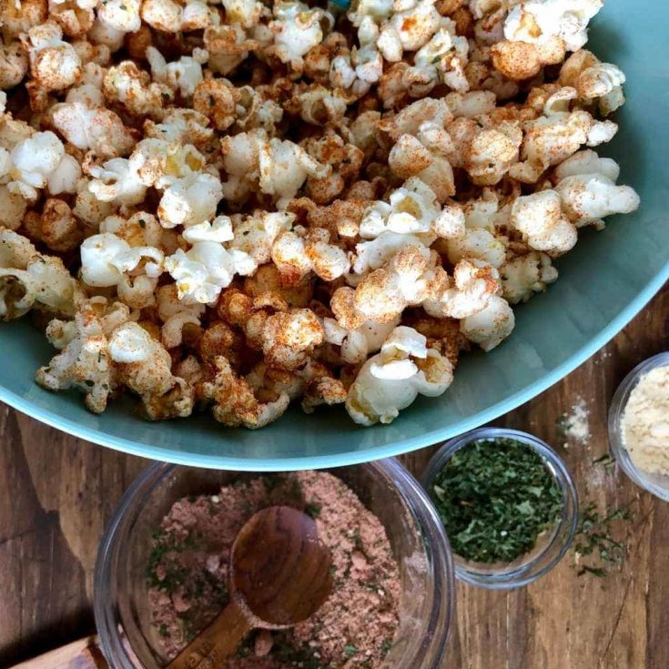 Barbecue Popcorn With An Easy BBQ Seasoning Mix