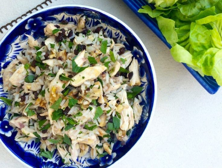Mediterranean Chicken and Rice Lettuce Wraps
