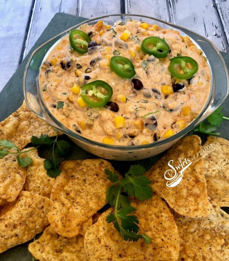 Creamy Corn and Black Bean Dip
