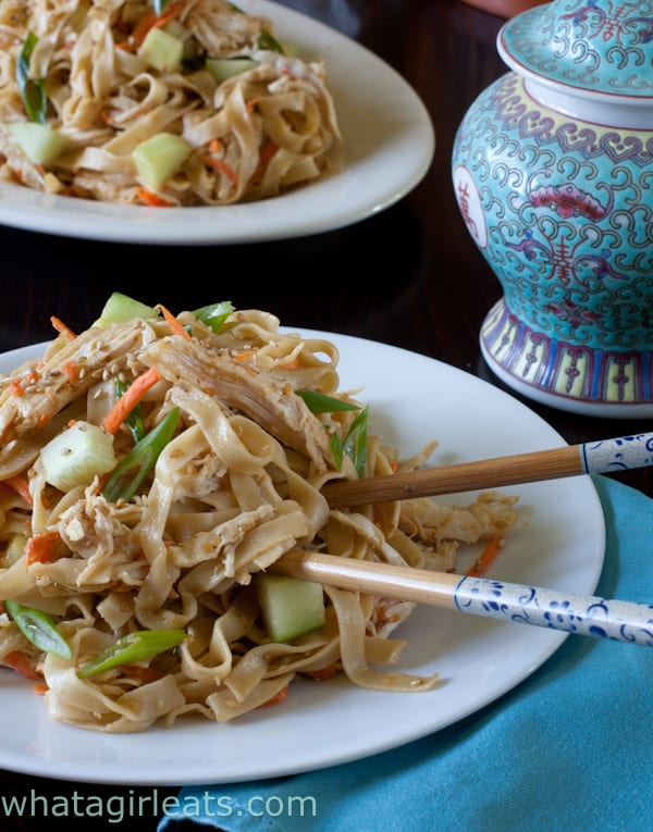 Cold Sesame Noodles Chicken Salad