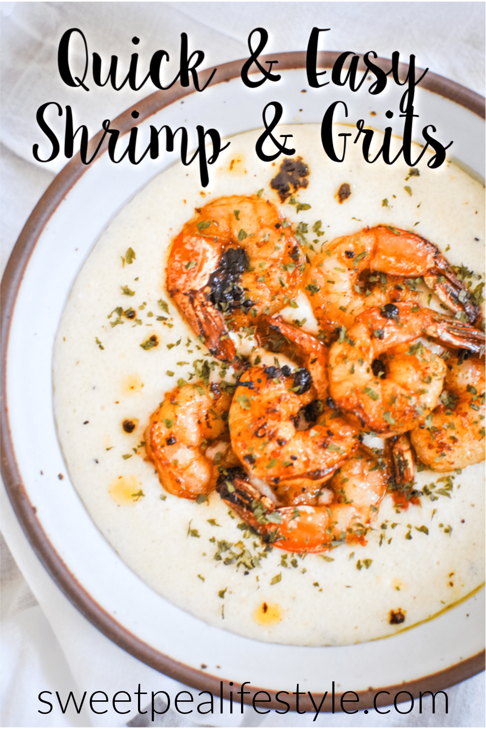 Quick and Easy Shrimp and Grits Recipe from Sweetpea Lifestyle