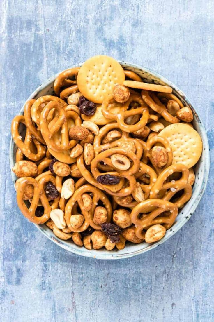 5 Minute Cheese Snack Mix