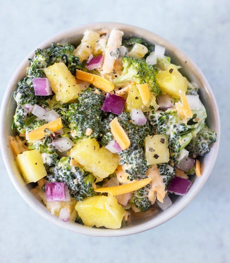 Broccoli Pineapple Salad (Gluten-Free, Easy)