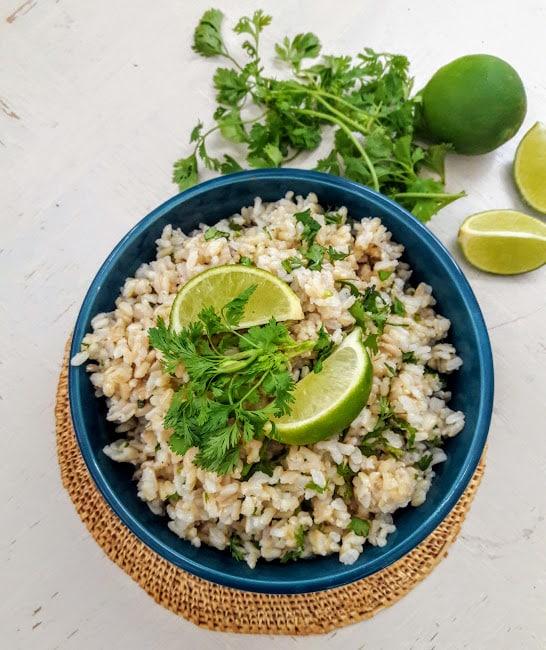 Cilantro Lime Brown Rice- InstantPot