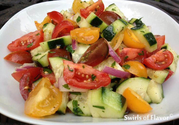 Heirloom Tomato & Cucumber Summer Salad