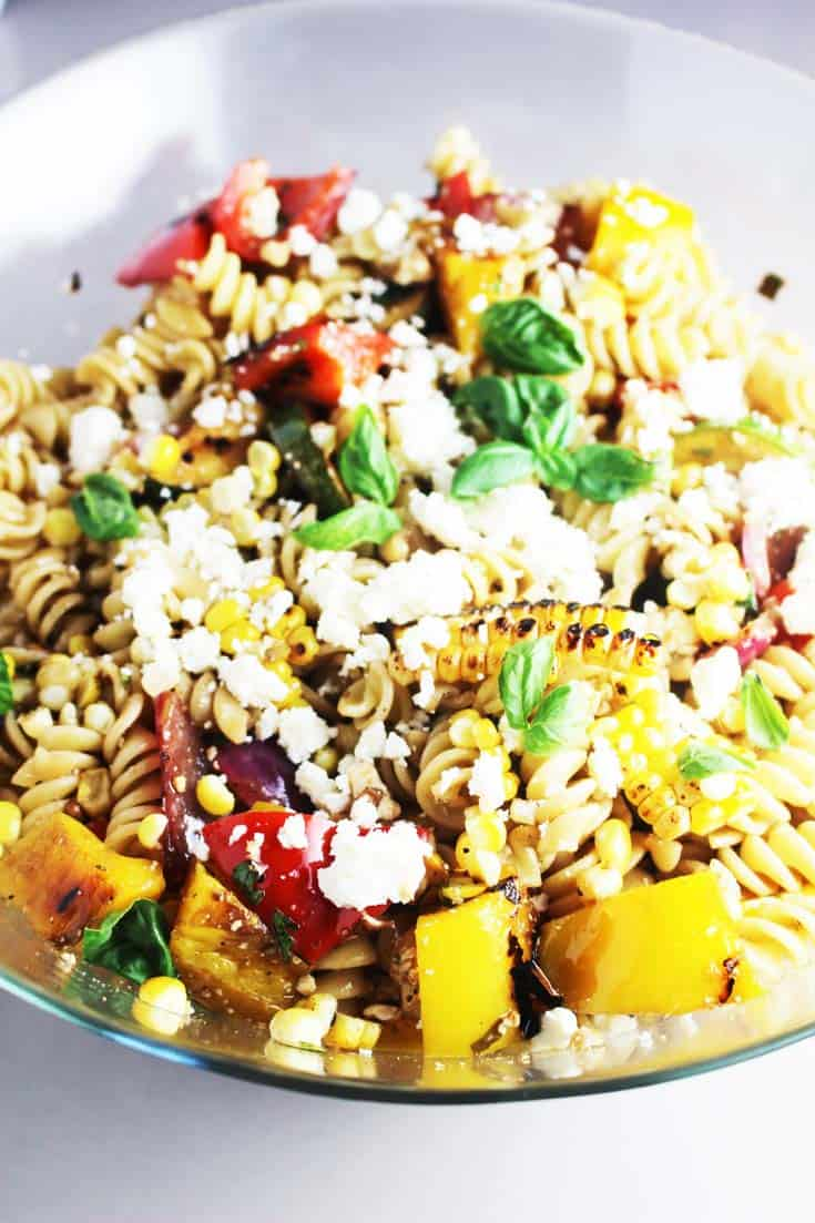Summer Pasta Salad with Grilled Vegetables