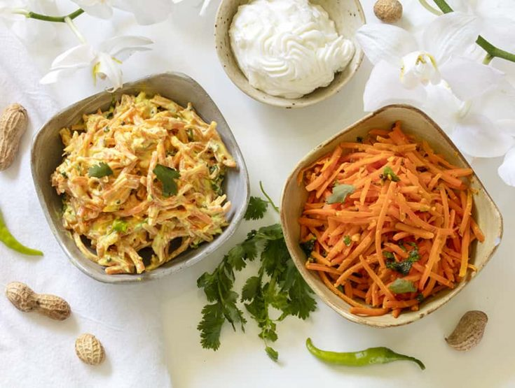 Easy Indian Carrot Salad | Carrot Slaw + 5 Variations