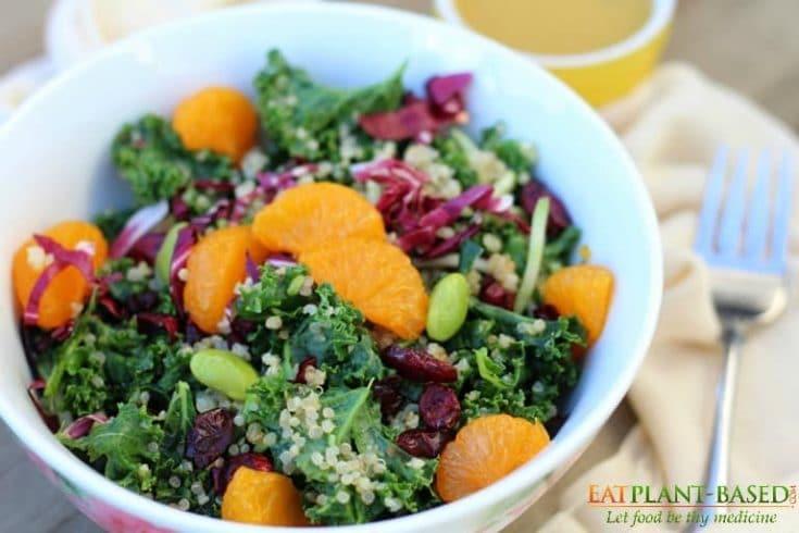 Kale Quinoa Salad | Orange Miso Dressing